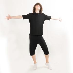 Pyjama Man schwarz_Model_Andrew