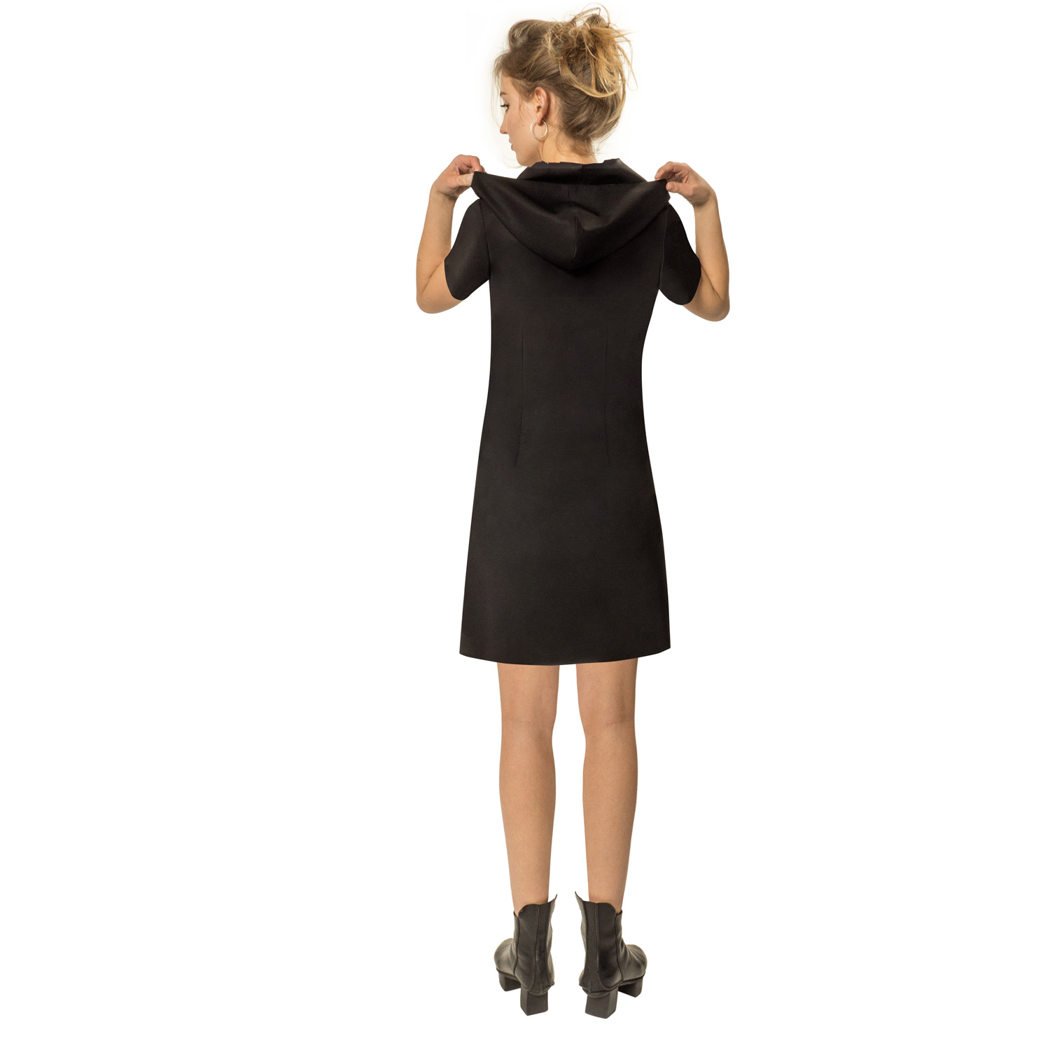 dress elegance shortsleeve black back